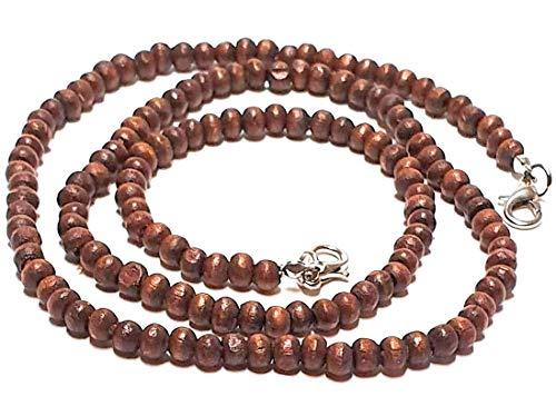 Generisch Lot de 2 colliers de masque faits à la main en perles pour homme/femme Marron