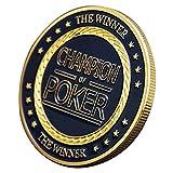 F Fityle Chips Casino Metal Challenge Moneda de Oro Accesorios de Póker - F