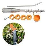 Bodenhülse 64 mm Feuerverzinkt Universal Einschraubbodenhülse Schirmständer Eindrehhülse für Wäschespinne Einschraubhülse Hülse