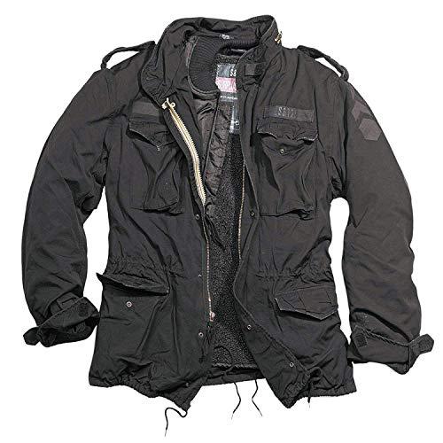 Trooper M65 Regiment Jacke, schwarz, Size M + UD Thinsulate Beanie