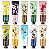 Ownest 10 Pack Plant Fragrance Hand Cream Moisturizing Hand Care Cream Travel Gift Set With Natural Aloe And Vitamin E For Men And Women-30ml