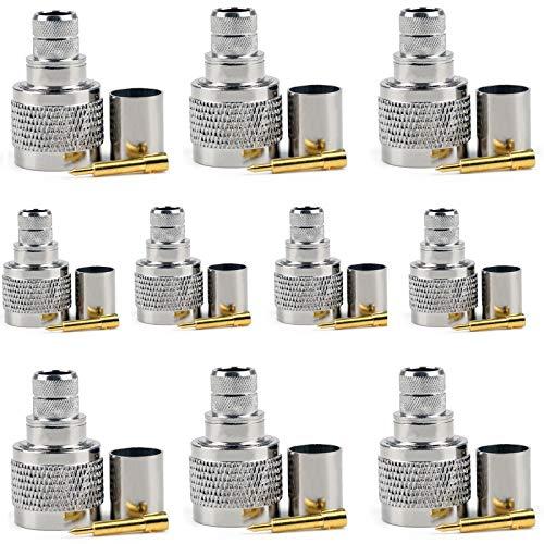 Crimpstecker Typ N für LMR400 RG8 RG213 RG214 Kabel RF Koaxialstecker, 10 Stück