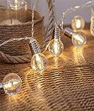 Outdoor Girlanden Lichter Globe Lichterketten für Indoor Outdoor Party Wohnzimmer Schlafzimmer Garten 1,5 Meter 10 Lichter Batterie frische Glühbirne