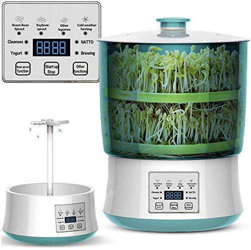Cronos Heckermann WT-60 - Máquina de germinación eléctrica con ducha giratoria de 360°, control microordenador, panel de control electrónico, riego uniforme, para muchos tipos de semillas