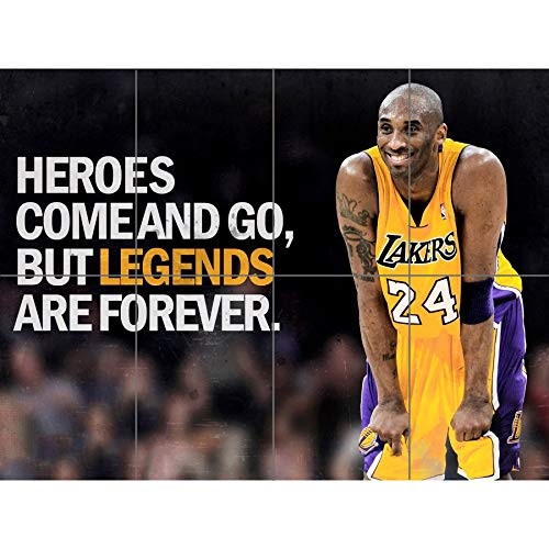 Doppelganger33 LTD Heroes NBA Basketball Kobe Bryant Los Angeles Lakers Wand Kunst Multi Panel Poster drucken 47x33 Zoll