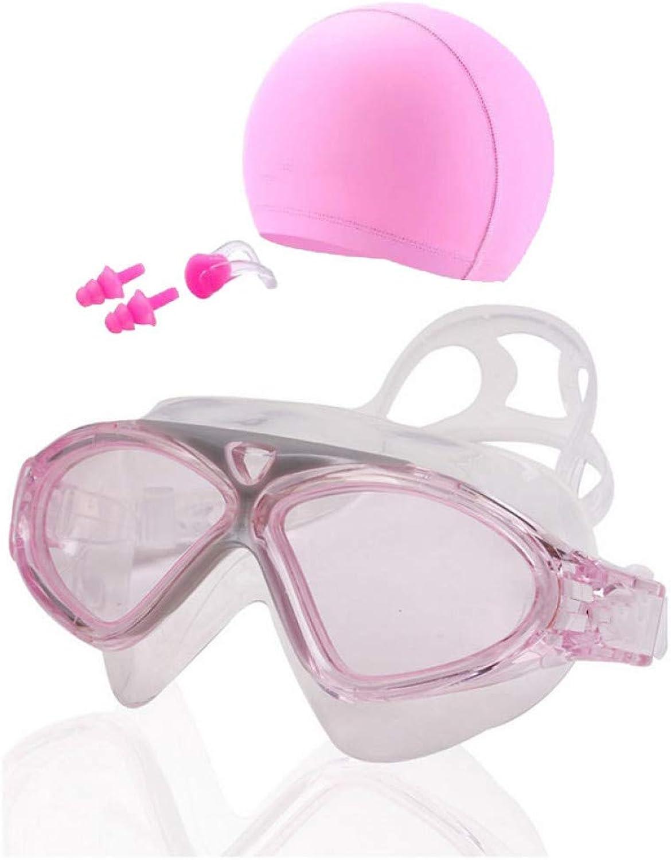 GPOKD Swimming Goggles Adult Swimming Glasses Swim Caps Ear Plug Professional AntiFog Diving Eyewear Arena Waterproof Swimming Goggles