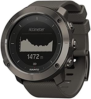Suunto Traverse - Sport Watches (Stainless Steel, 128 x 128 Pixels, Graphite, Silicone)