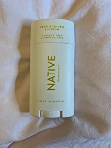 Native Deodorant - Natural Deodorant - Vegan, Gluten Free, Cruelty Free - Contains Probiotics - Aluminum Free & Paraben Free, Naturally Derived Ingredients - Pear & Linden Blossom