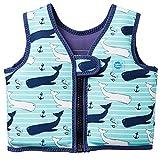 Splash About, Go Splash, Chaleco de natación para niños, Azul (Vintage Moby), 2 - 4 años