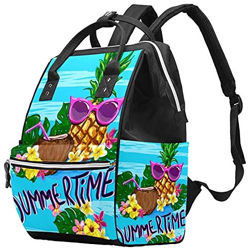 WJJSXKA Mochilas Bolsa de pañales Laptop Notebook Mochila de viaje Senderismo Daypack para Mujeres Hombres - Fruta gafas de sol tropical