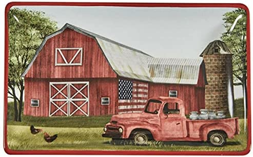 for Country Farmhouse Flag 5 ☆ very popular Courier shipping free Vintage RED Spoon BARN Dis Rest Truck