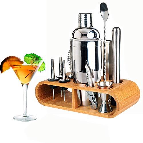 12 Piece Cocktail Making Set Cocktail Shaker Kit Stainless Steel Bar...