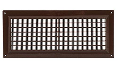 300x130 mm Braun Lüftungsgitter 30x13cm Insektenschutz Gitter Lüftung aus ABS Kunststoff