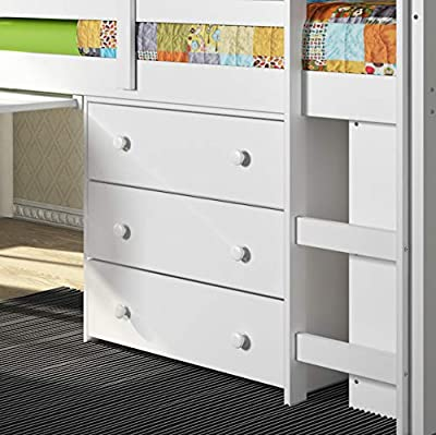 OS Home and Office 760-TW loft Bed Pleasant White