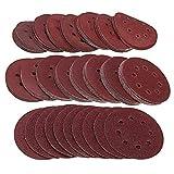 RETYLY 160Pcs / Set Discos de Lijado de 5 Pulgadas 125Mm Almohadillas de 8 Agujeros 40-2000 Papel de Lija de Lijado de Grano