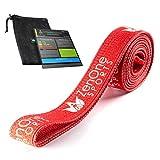 ZenBands Power Fabric, Fitnessband aus Stoff, Klimmzughilfe, rutschfestes Resistance Band, Widerstandsband für Ganzkörpertraining Zuhause, ideal für Pull-ups, inkl. Workout-Guide (Rot, X-Heavy)