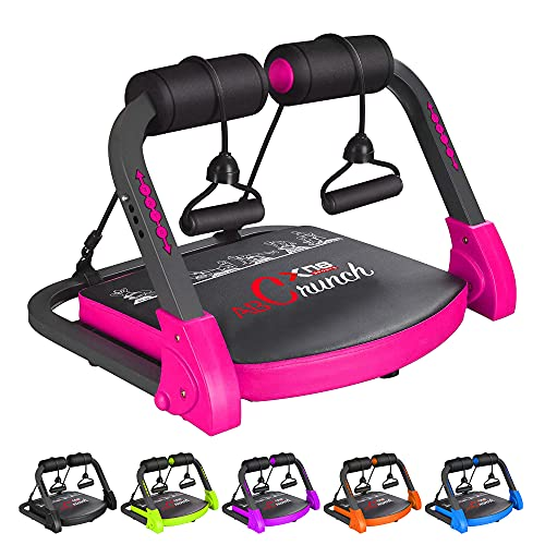 XN8 Bauchmuskeltrainer Abs Core| Fitness Coach Intelligente Maschine- Bauchtraining Geräte- Einstellbarer -Sit-Ups-Fitness-Traininshocker (Rosa)