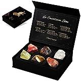 GXO BEAUTY Leo Crystal Gift - Zodiac Sign Gemstones Set, 6 Pcs Astrology Healing Crystals Birthstone Kit with Horoscope (Leo)