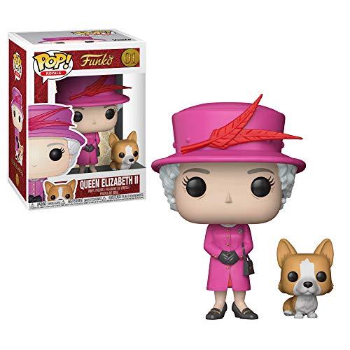 Funko- Royal Family-Pop Queen Elizabeth II Figurina, Multicolore, 9 cm, 21947