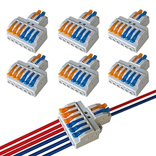 QitinDasen 4Pcs KV439 Leva-Dado Cavo Connettore, 3 in 9 fuori Bilaterale 12 Porte Connettore Conduttore Compatto, Morsettiera Cavo Connettore Molla Rapido