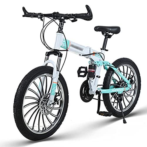 Bicicletas Triciclos Velocidad para Estudiantes Y Mujeres De 20 Pulgadas Doble Amortiguación para Niños Plegables De Acero con Alto Contenido De Carbono