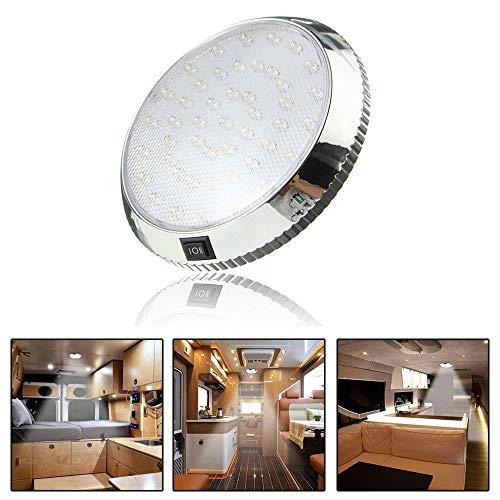 Lumière intérieure de voiture DC 12 V 46 LED plafonnier plafonnier plafonnier lampe d'intérieur avec interrupteur marche/arrêt pour caravane, camping-car, bateau, cuisine, salon