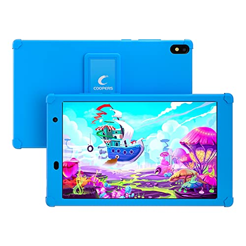 Kids Tablet 8 inch Tablet for Kids Android 10 Toddlers Tablet PC, 2GB + 32GB Storage, WiFi, Bluetooth, Camera, Games, Kids Software Parental Control,Tablet with Proof Case for Child (Blue)