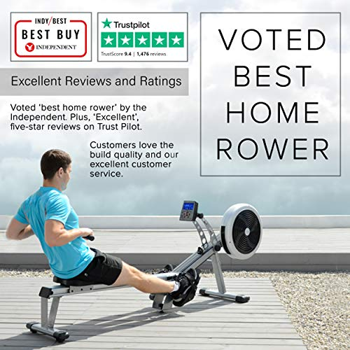 JTX Freedom Air Rowing Machine: Foldable Superior Rowing Machine. 2 YEAR IN-HOME SERVICE WARRANTY