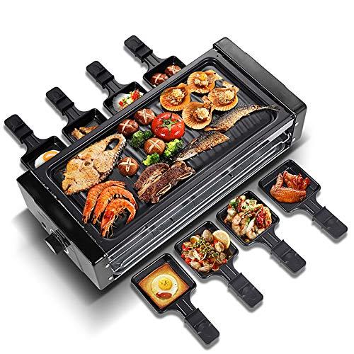 Indoor-Maschinengrill 8 Mini-Pfannen-Backformen gegrillter Netzplatte 3in1, 1500W einstellbare Temperaturregelung für 5-10 Personen
