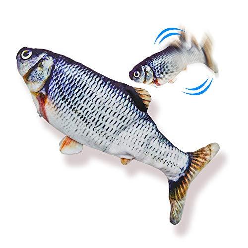 ハネる魚【ムービングフィッシュ ソウギョ】イキがいい! ペット用電動玩具