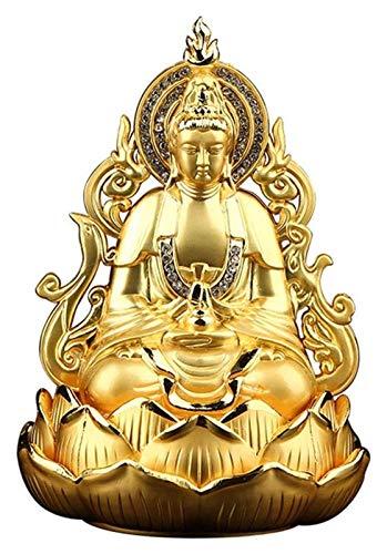 Decoración del hogar / Accesorios de Decoración Creatividad Guan Yin Buda Estatua Estatuilla, meditando el ornamento de la escultura de Quan Yin de Doble Sides, la estatua de Kuan Yin, los mejores reg