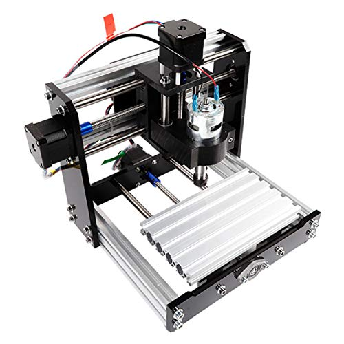 CDFC Mini Laser Engraving Machine 3W, 3 Axis PCB Milling Machine, with GRBL Control Plastic Acrylic PCB PVC Wood Carving Milling Router Kit, XYZ Working Area 100X180x50mm