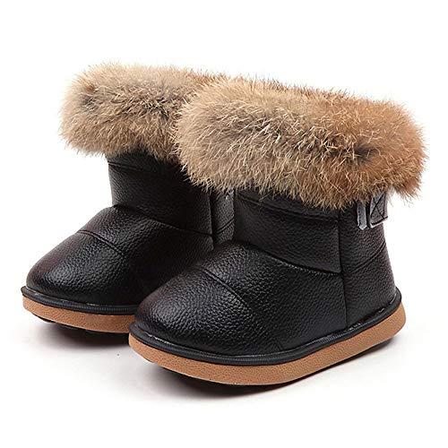 HALILUYA Zapatos Botas Invierno Cálido Para Bebé Niños Niñas Mantenga Cálida Nieve Suave Suela Botas de Cuna Suave Zapatos-Blanco