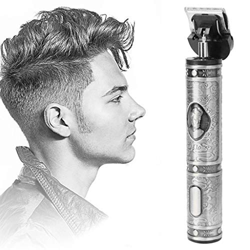 HHmei Outliner Grooming Rechargeable Cordless Close Cutting T-Blade Trimme 30ml (Silver_C)