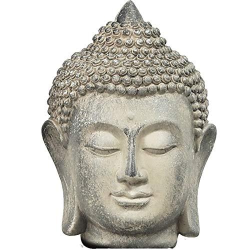 JONJUMP Estatua de Buda de resina estatua de Buda chino, jardín grande cabeza de Buda piedra arenisca decoración de Bud