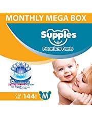 SUPPLES Diaper Pants - M - Monthly MEGA Box - 144 Pieces