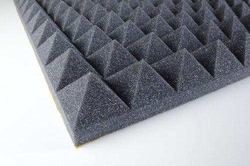 Akustikschaumstoff - Pyramidenschaumstoff 50 mm - Anthrazit 1000x500x50mm 0,5mq - Platte