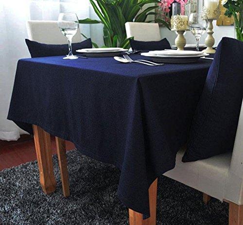 kingdeson Lino y Algodón rectángulo poliéster color sólido moderno mantel Multi Tamaño