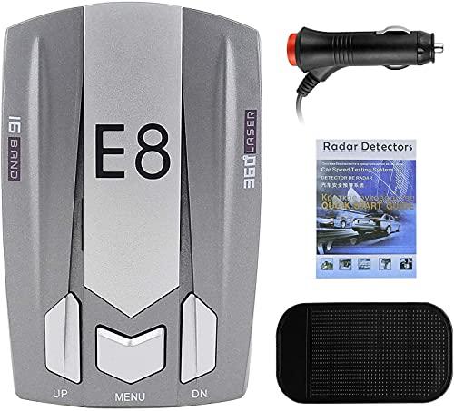 Radar Detectors for Cars, Radar Detector Police Radar Detector Long Range Detection, Voice Alerts with Led Display Gray