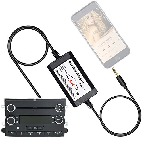 APPS2Car Car Stereo AUX Adapter Audio Cable for Ford F150 F250 F350 F550 Edge Expedition Explorer Focus Freestyle Mustang Sport Trac, Lincoln, Mercury - CD Auxiliary Input Jack Adapters