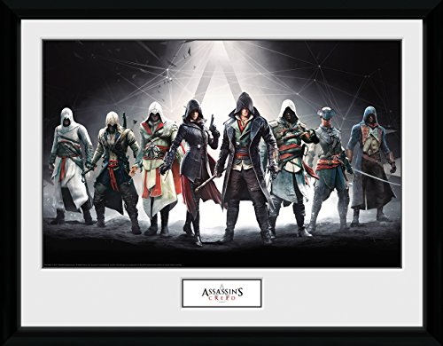 GB Eye Poster Assassins Creed, Zeichen Kunstdruck, gerahmt, 30x 40cm, verschiedene