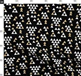 Dreieck, Tipi, Glitzer, Gold Glitter, Schwarz Und Weiß,