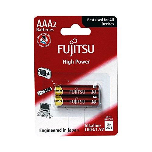 Fujitsu FB85000 - Pack de 2 baterías alcalinas High Power (LR03 FH, tamaño AAA)