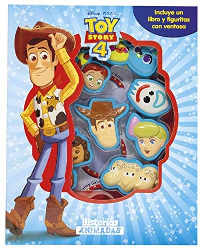 Toy Story 4. Historias animadas: Incluye un libro y figuritas con ventosa