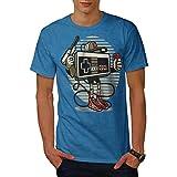 wellcoda Gamer Retro Gioco Uomini Maglietta Jeunesse T-Shirt con Stampa Grafica