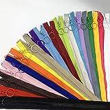 WKXFJJWZC 3 # 20 cerniere in resina con anello di tiraggio, 40 cm chiusura lampo per borse fai da te cucito artigianato cerniera (40 cm)