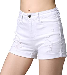 cunlin High Waist Denim Shorts for Women Ripped high Waisted Jeans Shorts