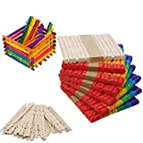 Gelible 400Pcs Colorful Sawtooth Wood Craft Sticks - Assorted Color Natural Wooden Ice Cream Popsicle Sticks Used for DIY,Craft Innovation Design,Children Education,Classroom Creative,Wedding