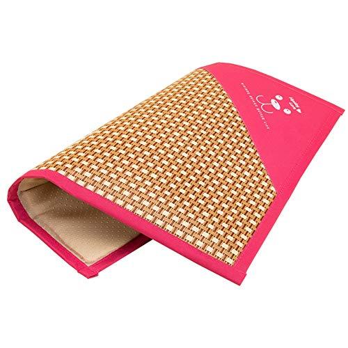 WENZHE Bambus Matratzen Sommer-Schlafmatten Strohmatte Teppiche Zwinger Katze Nicht Klebrig Haustier Matte Cool Atmungsaktiv, 5 Farben (Farbe : C, größe : 80x60.5cm)
