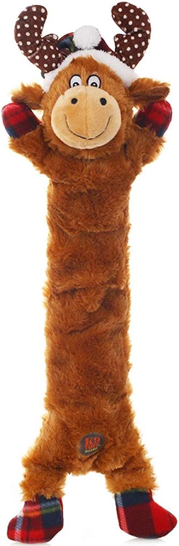 Goquik Pet Toy Christmas Dog Toy Pet Toy BiteResistant Molar Pet Sounding Plush Toy Pet Pillow (color   A)